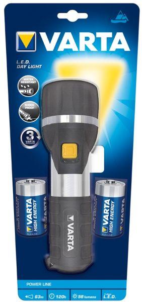 VARTA LED Day Light 2D 17611 schwarz inkl. Batterin