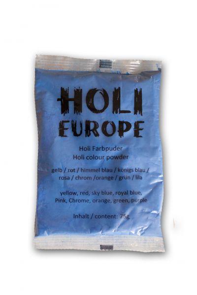 Holi Classic Farbpulver, Trockenfarbe 75g himmelblau