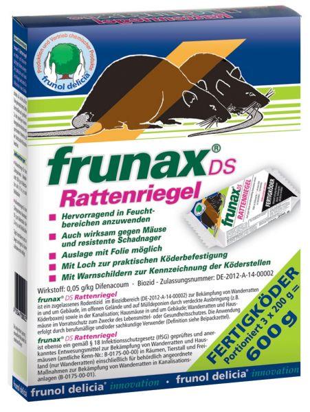 Frunax-DS-Rattenriegel 600 g (3 x 200 g) - Fertigköder gegen Ratten