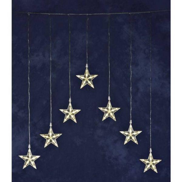 Lichtervorhang-Sterne Außen 24 V EEK: LED (A++ - E) 35 LED Warm-Weiß (B x H) 75 cm x 116 cm