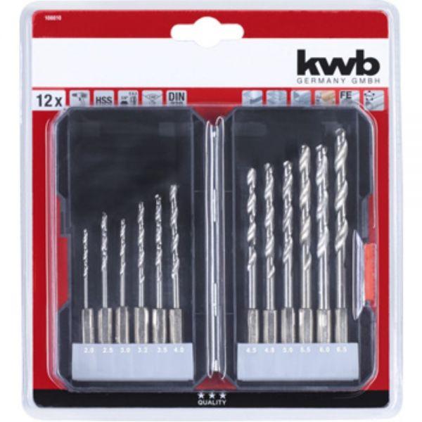 KWB Metallbohrer-Satz 12-tlg. 2-6,5mm