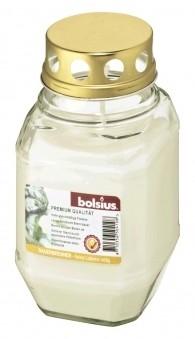 Bolsius Grablicht / Laternenglas mit Deckel transparent
