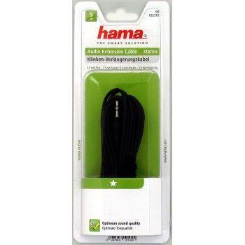 Hama Audio-Verlängerungskabel, 3,5-mm-Klinken-Stecker - Kupplung, Stereo, 5,0 m