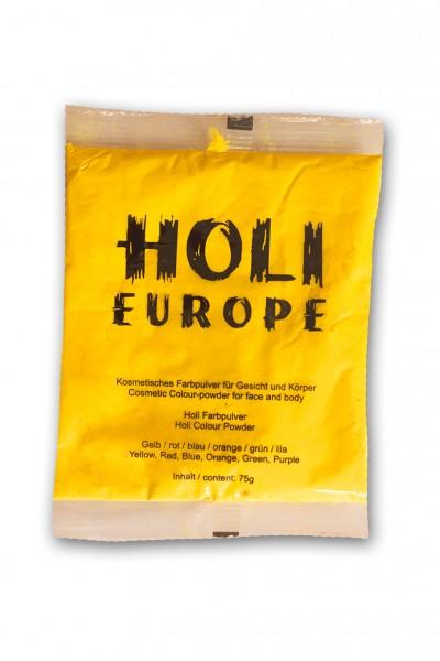 Holi Classic Farbpulver, Trockenfarbe 75g gelb