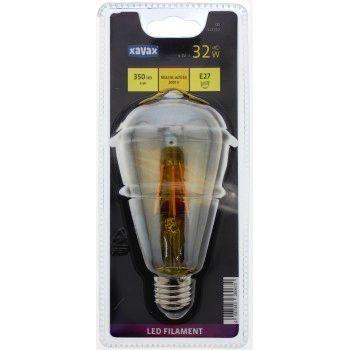 Xavax LED-Filament, E27, 350lm ersetzt 32W, Vintagelampe, Warmweiß