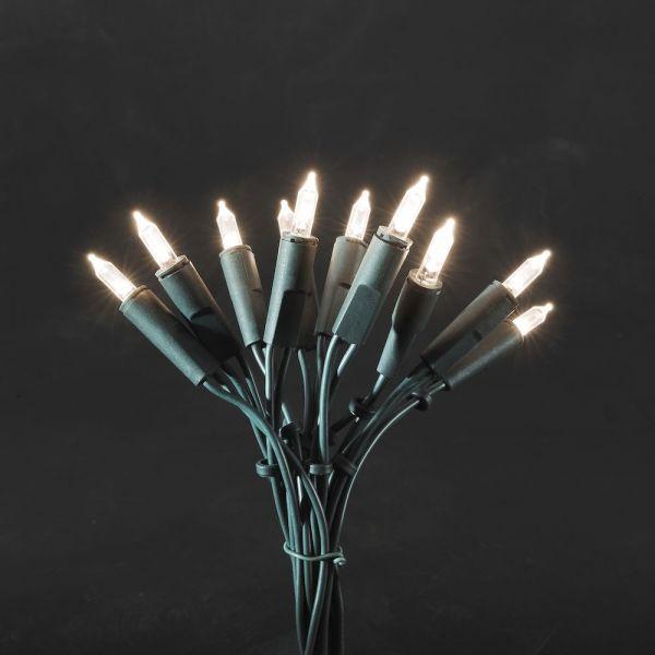 LED Minilichterk.,50 warme LEDs, 230V, 3,8W,grün, 7,35m