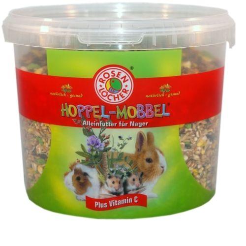 HoppelMobbel Futter für alle Nager, 2,5 kg im 5 L-Eimer