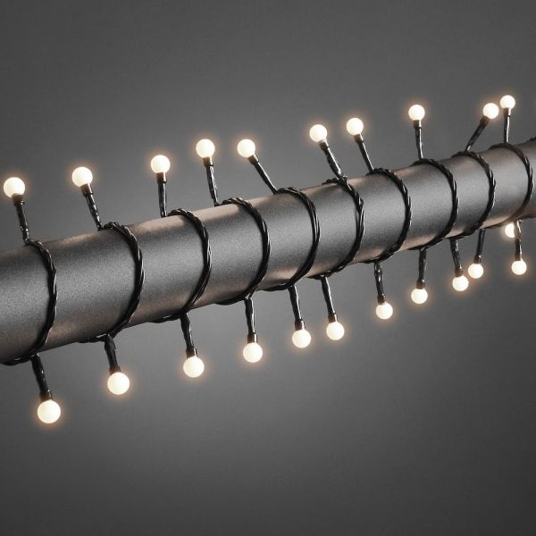 LED Globelichterk.,80 ww LED Außenschwarzes Kabel
