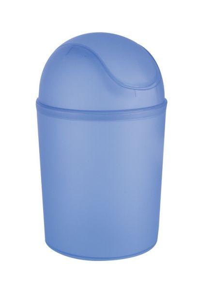 Wenko Schwingdeckeleimer Arktis Blau, 4,5 L