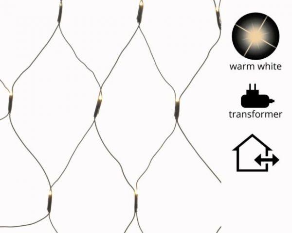 LED Netzbeleuchtung aussen 100x130cm-96L,schwarz/warmweiss