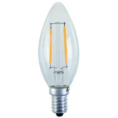 PROFI LICHT LED Filament, E14 2W (=25W) Kerzenform