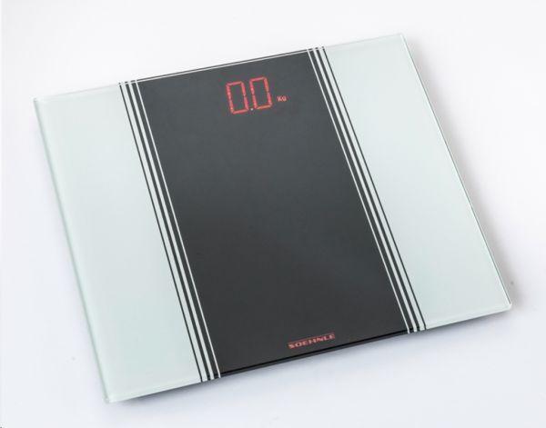 Leifheit Soehnle Elektronische Personenwaage, max. 150 kg Tragkraft, LED-Infodisplay LED Sensation