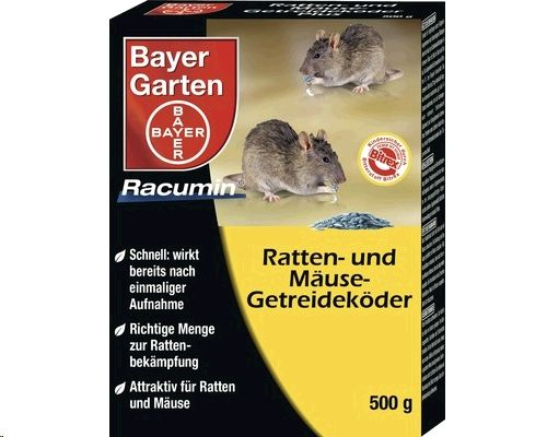 Bayer Ratten & Mäuse Getreideköder 500 g