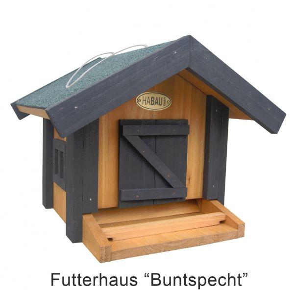 Futterhaus ´Buntspecht´ aus Kiefer