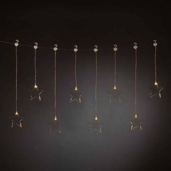 LED Lichtervorhang, Innentrafo 8 Plexisterne