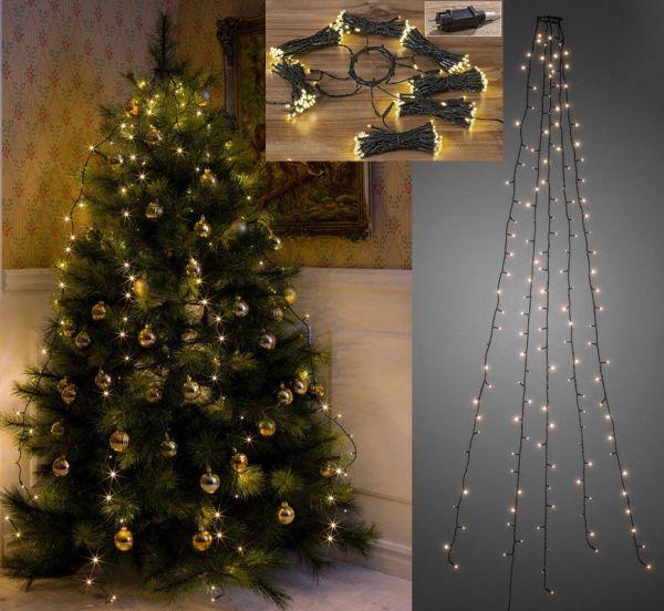 LED Lichterkette für Tannenbaum 6 Stränge 180 LED 203 cm lang (833910)