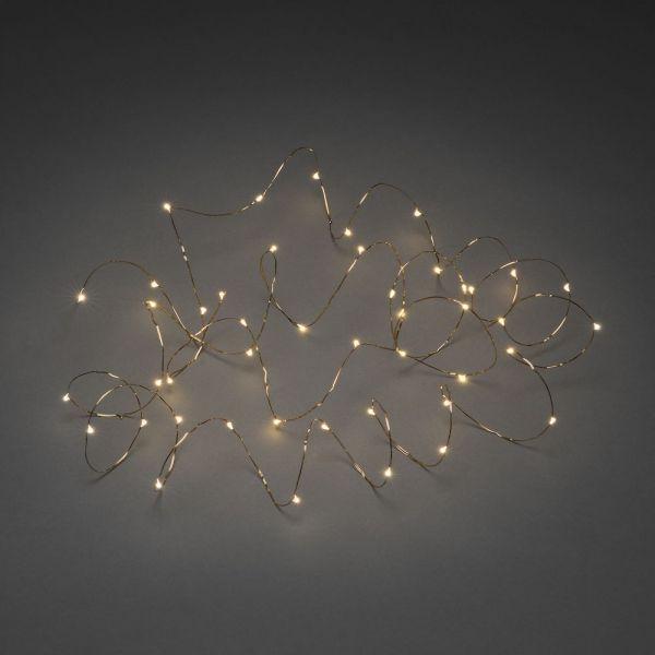 LED Tropfenlichterkette,goldf. Draht, 100 bernstein, 9,9m