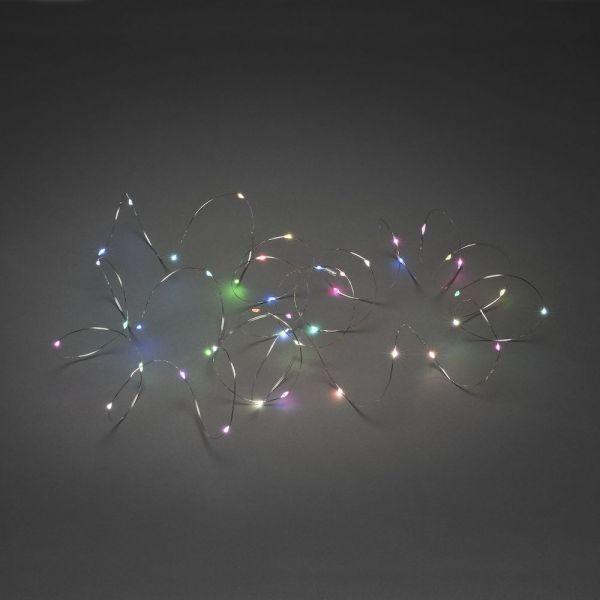 Micro LED Lichterk.,silberf.D. RGB-Farbw.langsam,4,9m