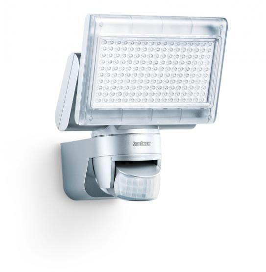 Steinel Sensor-LED-Strahler XLed Home1 IP44, 198 LEDs,ca.12W/silber