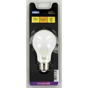 Xavax LED-Lampe, E27, 470lm ersetzt 40W, Glühlampe, Warmweiß, dimmbar