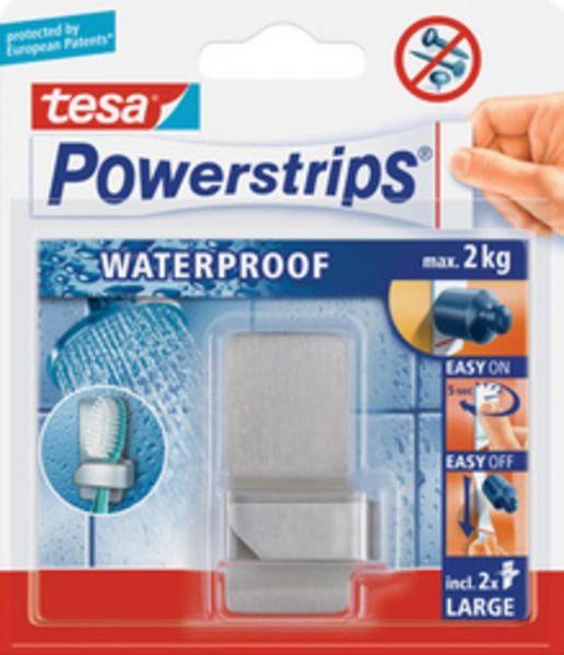 tesa Powerstrips® Waterproof Zahnbürstenhalter Zoom, Metall