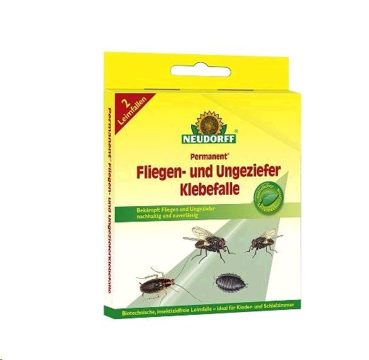 NEUDORFF Permanent Fliegen- und Ungeziefer Klebefalle 2 Stück