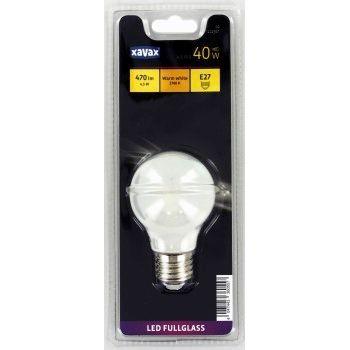 Xavax LED-Lampe, E27, 470lm ersetzt 40W, Glühlampe, Warmweiß, Vollglas