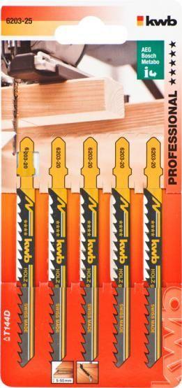 KWB Bi-Metall Stichsägeblätter Holz grob Einnockenschaft Profi-Pack 100/75 mm (5 Stück)