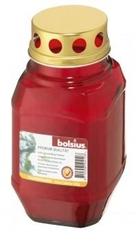 Bolsius Grablicht / Laternenglas mit Deckel rot