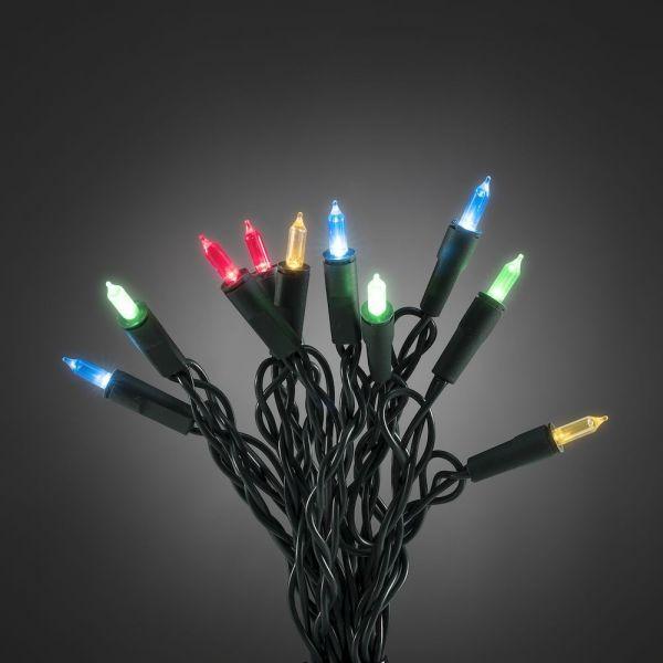 LED Minilichterkette, 100 bunte Dioden, grün, 14,85m