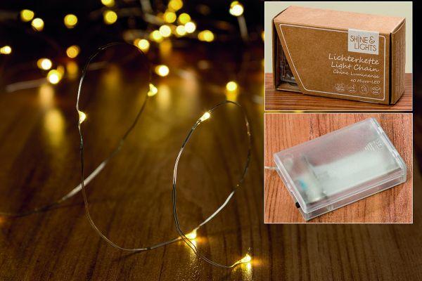 Boltze LED-Mikro Lichterkette 40er L420cm 3xAA 1,5V