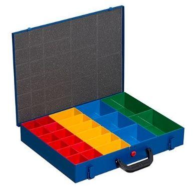 Allit EuroPlus Metall 44-23x63, blau Kleinteilekoffer, 440x370x70mm