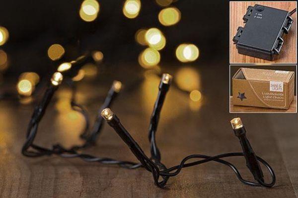 Boltze LED-Lichterkette 50er L540cm mit TIMER 6/18h, 3xAA